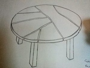 bespoke design idea for gregs table, Bellingham, Northumberland