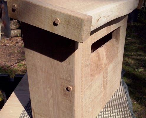 handmade post-box, english oak